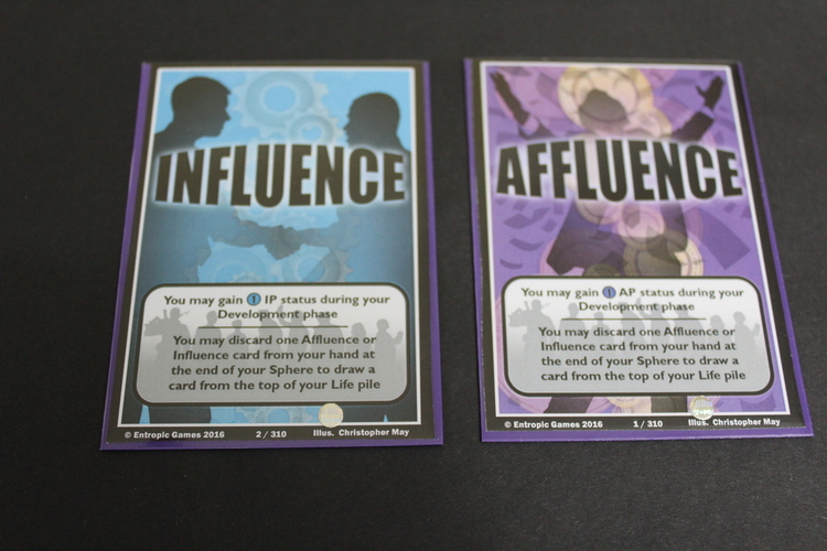 Status Cards; Affluence, Influence