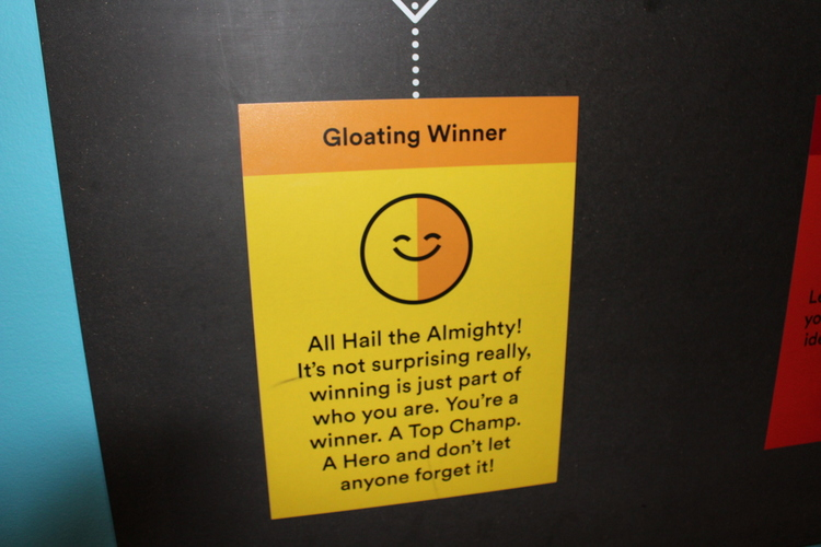 Gloating Winner