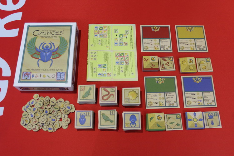 Full ominoes hieroglyphs components